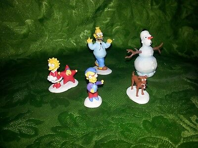 Simpsons Christmas Village Figures Hawthorne Snow Daze COA