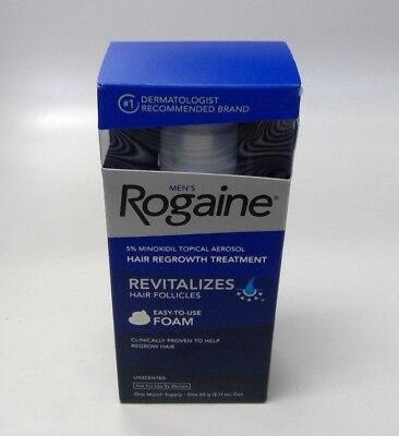 Men's Rogaine 5% Minoxidil Topical Hair Regrowth Treatment One Month Supply