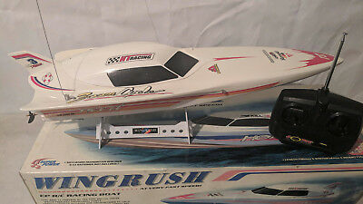 rc boat 700 LONG x 252 WIDE ( WING RUSH TWIN MOTOR GOES WELL )