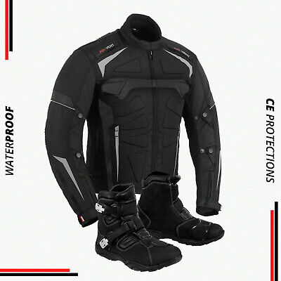 Black Friday Offer Motorbike Jacket Waterproof Motorcycle Leather Shoes Boots
