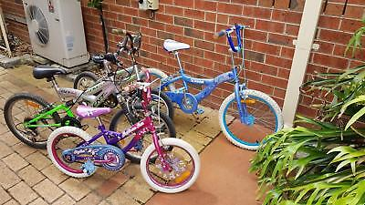 5 Children's Push bikes.  Pick up in Lilydale