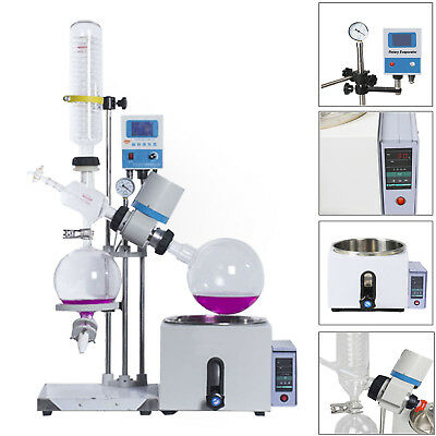 1L-5L 0-120rpm 0-99℃ New Lab Rotary Evaporator w/Motor Lift Digital Heating Bath