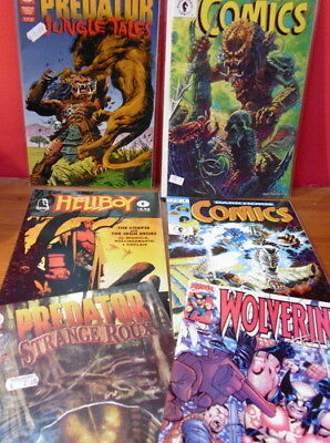PREDATOR, Wolverine, Hellboy COMICS JOB LOT x 6. free uk p/p