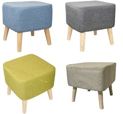 Modern Luxury PU/Upholstered Large Footstool Pouffe Stool Wooden 4RemovableLegs
