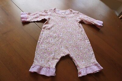 Baby Lulu 12 M Pink Floral Print Romper Outfit