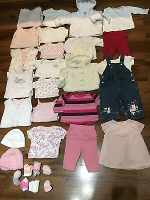 Baby Girl Clothes Bundle Newborn/0-3 Months 24 Items