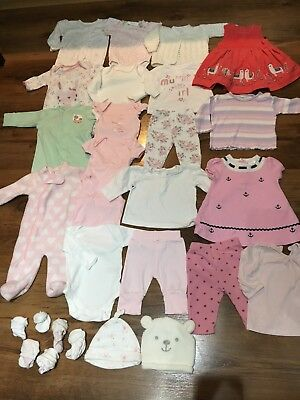Baby Girl Clothes Bundle Newborn/0-3 Months 22+Items