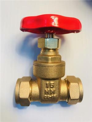 Brass Gate Valve Compression 15 mm and 22 mm