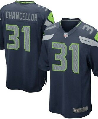 1*C5 Nike NFL Seattle Seahawks Home Game Jersey - Kam Chancellor Small