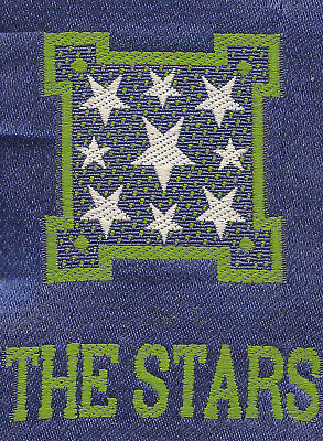 Vintage/antique early 1900s woven silk-use in crazy quilt- ZODIAC: THE STARS