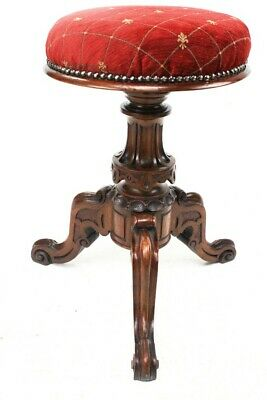 Antique Victorian Rosewood Piano Stool - FREE Shipping [PL4152]