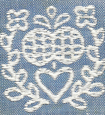 Vintage/antique early 1900s woven silk applique-use in crazy quilt - blue #2