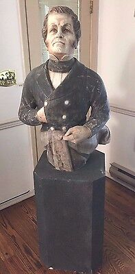 Vintage Admiral Perry Figurehead (War of 1812) Cast and Painted Resin on Base