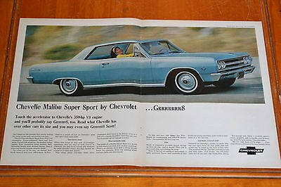 1965 Chevy Chevelle Malibu Ss Super Sport 64 Large Ad - Vintage Classic 60S