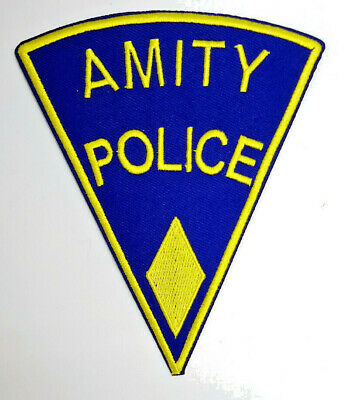 """JAWS Movie YELLOW Amity Police  5"""" Embroidered Patch-USA Mailed (APPA-01)"""