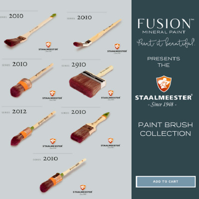Staalmeester Brushes, oval brush #40, pointed sash #18