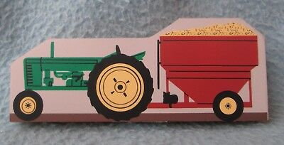 The Cat's Meow Tractor & Gravity Wagon Shelf Sitter Wood Decoration