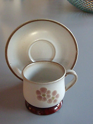 "Vtg 70s : ""Gypsy""  Denby Tea cup / Coffée cup & Saucer    MINT"