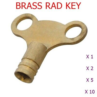 SOLID SILVER CENTRAL HEATING RADIATOR BLEED VALVE/VENT KEY AIR LOCK ...
