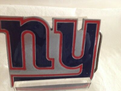 New York Giants Official NFL Belt Buckle. Pewter, New. Free Shipping