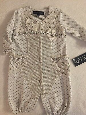 Isobella & Chloe Ruffled and Flower applique Romper Size 18M NWT FREE SHIPPING