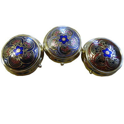 NEW Brass Enamel Pill Box Macintosh Style Collectibles 3 Styles Gift Xmas Gift