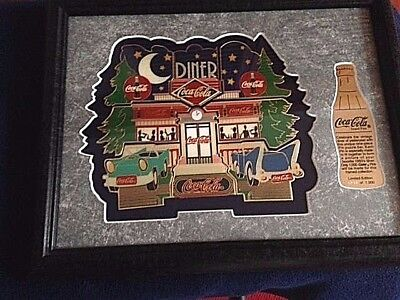 RARE Coca-Cola framed pin set of 8 1950's Diner Numbered  Limited Edition