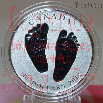 Born in 2018 Welcome to the World - Baby Feet - $10 Pure Silver Coin in Gift Box