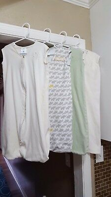 Lot of 4 Baby Size Medium 6-12 Months Halo Sleep Sacks Neutral Colors