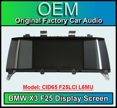 BMW X3 Satellite Navigation display screen, BMW CID65 F25L L6MU, Multi function
