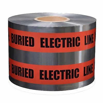 "Detectable Underground Warning Tape 5 Mil 6"" x 1000 Ft  PRESCO D6105R6-457 l"