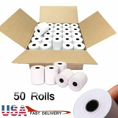 "50 Rolls 2-1/4""x50' Thermal Paper POS Cash Register Credit Card Terminal Receipt"
