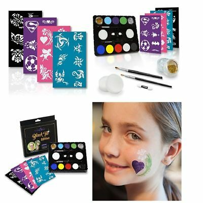 Face Painting Set For Kids Fancy Carnival Water Activated Face Body Kit HOT