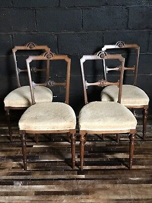 4 Edwardian Rosewood Dining Chairs