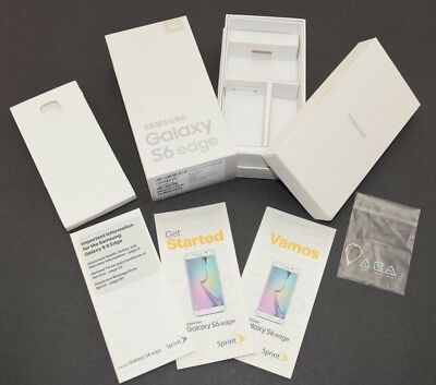 EMPTY BOX SET Samsung Galaxy S6 Edge Manual SM-G925P 32GB Gold Platinum (Sprint)
