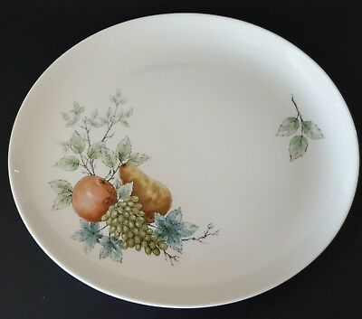 Syracuse Wayside Small Serving Platter Carefree China USA Apple Pear Grapes Leaf