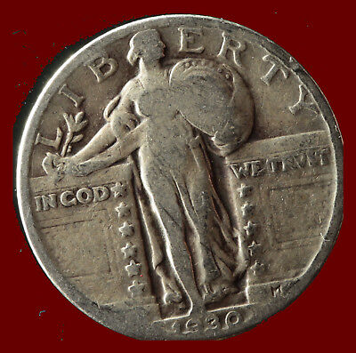 1930-P Standing Liberty 90% Silver Quarter Ships Free. Buy 5 for $2 off
