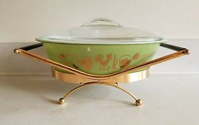 Vintage Sears Ovenware 2 Quart Oval Covered Casserole Early American Pattern
