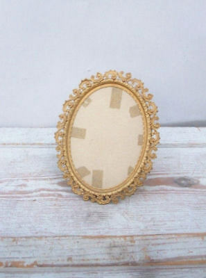 small Fancy Antique Victorian Brass Frame no glass