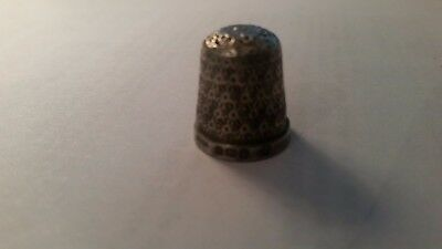 Antique Victorian Silver Thimble C1850