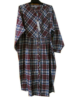 MENS LADIES Traditional Flannel Checked NIGHTSHIRT ROBERT STOCK Sm Med Lg XL