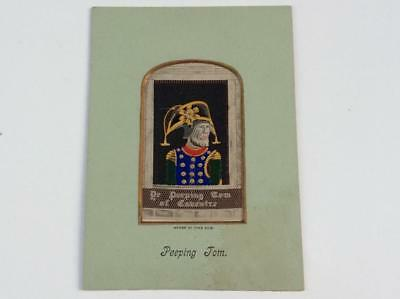 Stevengraph Silk Woven Picture - The Peeping Tom of Coventry