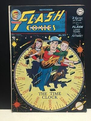 Flash Comics DC #101 No. 101 1948 A Switch in Time Hawkman
