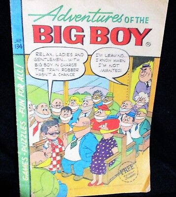 """Adventures of Big Boy""  #134 Comic Bk (Marriott)"