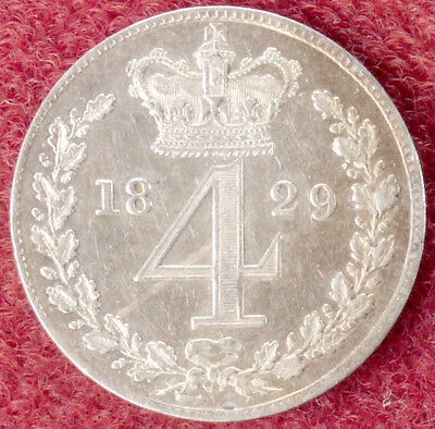 GB Maundy Fourpence 1829 King George IV (D1412)