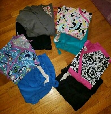 *ONLY* Koi brand Scrubs lot *ALL* size large 4 complete outfits!