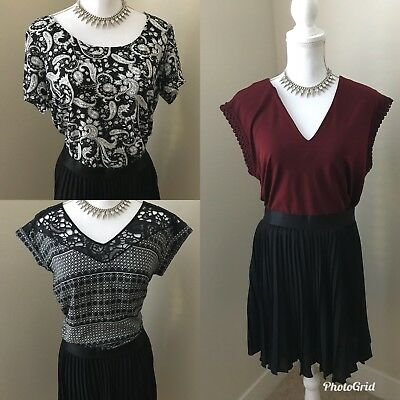 Express Blouse And Pleated Skirt Lot Of 4 Bnwt Christmas Gift