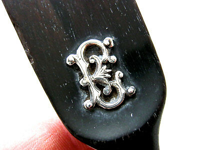 Antique Ebony & Silver Shoe Horn Monogrammed 'E' - Lord Kitchener History