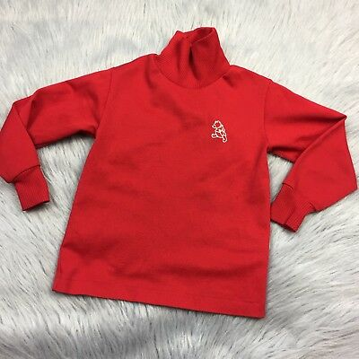 Vintage Sears Red Polyester Toddler Boys 4-5 Winnie The Pooh Disney Shirt