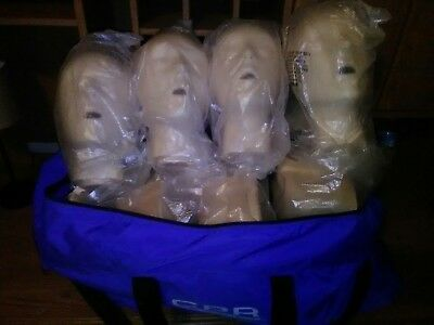 Prompt CPR Manikins 4 pack with Free Carry Bag... Brand New (Tan)